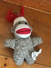 Sock Monkey Stuffed Animal Backpack Hanger Gently Used Playmaker Toys Mini Brown