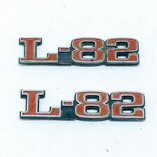 1975-1979 C3 Chevrolet Corvette L82 Hood Emblems Set Pair LH RH OEM Used