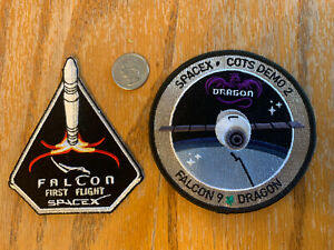 SpaceX Falcon Patches (two)