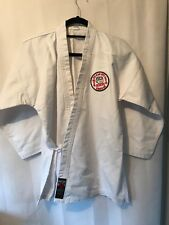 karate jacket white size 150 used but excellent condition.