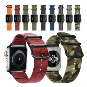Woven Nylon Watch Band Strap Belt For Apple Watch SE 6 5 4 3 iWatch 44/42/40mm
