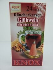 German Made Knox Raucherkerzen Gluhwein Hot Wine Punch Incense Cones for Smokers