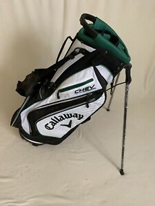 New Callaway Chev Stand Golf Bag Green/white very nice