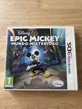 Epic Mickey Mundo Misterioso, Disney, Nintendo 2DS,3DS, Completo, Pal Esp.