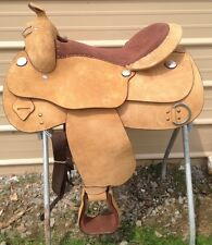 "16.5"" Western training saddle rough out leather"