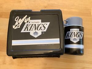 1991 LOS ANGELES KINGS AUTOGRAPH DAVID GOVERDE #43 LUNCHBOX THERMOS