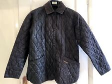 Classic Quilted Women's Barbour Jacket with Corduroy Collar, Brown, Size 12