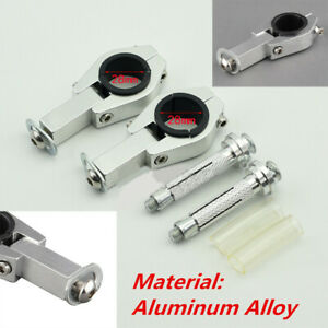 2PCS 28mm Aluminum Alloy Motorcycle Hand Guard Mounting Bracket Handguard Clip