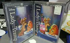 Lady and the Tramp (Blu-ray/DVD, 2012, 2-Disc Set, Diamond Edition) authentic