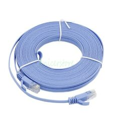 15M UltraThin CAT6 RJ45 Ethernet Network LAN Internet Cable Flat UTP Router BLE