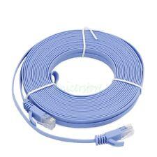 15M UltraThin CAT6 RJ45 Ethernet Network LAN Internet Cable Flat UTP Router BLE