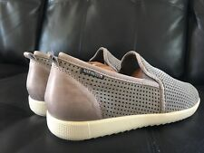 """MEPHISTO """"ULRICH"""" GREY PERFORATED SUEDE   SLIP-ON Shoes SNEAKERS 8.5 8 1/2 $395"""