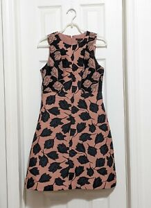 NWT size 2 Ann Taylor sleeveless A-line dress, black/pink floral, RARE!