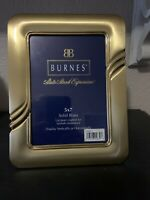 Burnes Mid Century Modern Style Solid Brass 5 x 7 Picture Frame
