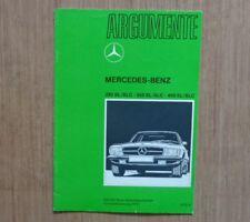 org. Mercedes W107 Argumente Brochure 350 280 SL 450 SLC W 107 300SL 500SL 560SL