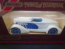 Matchbox Models of Yesteryear Auburn Speedster 1936 Y-19 wit / blauw