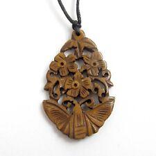 Tibet Bone Butterfly Flowers Pendant Jewelry--48mm*29mm