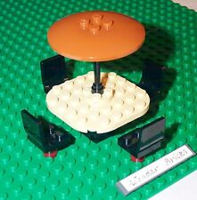 Lego Seats Black Chairs Table Umbrella Dish 8092 10173 House Train