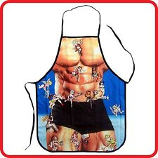 APRON - STRONG MUSCLE MAN -FUNNY-SEXY-KITCHEN-BBQ-BARBEQUE-COSTUME-PARTY
