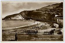 Old Real Photo Postcard Beach Hele Bay Ilfracombe England UK