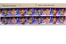 CHRISTMAS TEDDY BEARS WINDOW DECORATION STATIC CLING STICKERS (CCWCS006)