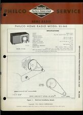 Rare Factory Philco 53-565 Am Special Service Band Radio Service/Repair Manual