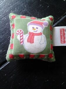 Fisher Price-Loving Family Holiday Dollhouse Reversible Holiday Christmas Pillow