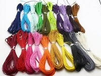200 Meters Waxed Cotton Beading Cord 1mm for Bracelet String Color Choice