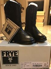 Frye 97801 Girls Carson Pull On Boot Black Size 7 New In Box RARE Boots