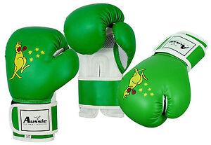 Kids Children Boxing Gloves MMA Training Sparring Punching Bag 2oz,4oz,6oz Green