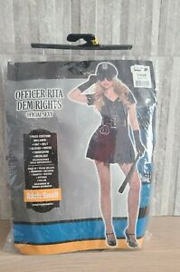 Women's Small Sexy Halloween Police Costume Officer Rita Dem Rights USA