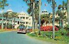ORMOND BEACH HOTEL FLORIDA-1940-50s AUTOMOBILES POSTCARD 1962 PSMK