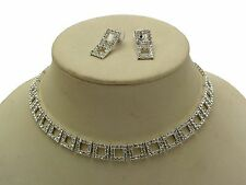 Choker Diamante Necklace and Earrings Prom Jewellery