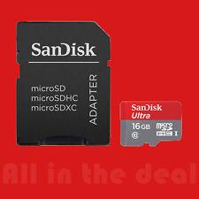 SanDisk 16GB 16 GB Ultra Micro SDHC Class 10 Memory SD Card  MicroSD