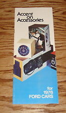 1976 Ford Accessories Sales Brochure Mustang Pinto 76