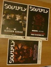 Soulfly - Scottish tour Glasgow concert gig posters x 3