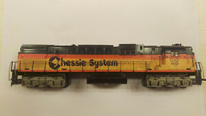 Tyco HO Alco 630 diesel, C&O Chessie #1102, Runs and pulls great.new rubber