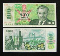 Czechoslovakia 100 Korun Banknote 1989 UNC