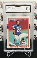 1989 TOPPS FOOTBALL THURMAN THOMAS ROOKIE #45 BILLS HALL OF FAME RB        MY29