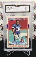 1989 TOPPS FOOTBALL THURMAN THOMAS RC ROOKIE #45 BILLS HALL OF FAME RB     AG1