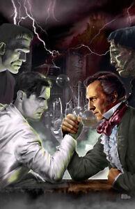HENRY VS. VICTOR Frankenstein Universal Hammer horror art Scott Jackson