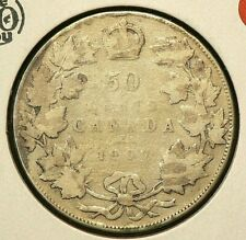 1907 Canada 50 Cents Silver 92.5% #7982