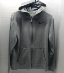 Nike Full Zip 2 Pocket Gray Hoodie With A Blue Swoosh - Youth Size XL **EUC**