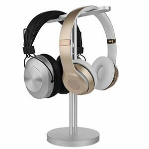 Geekria Aluminum Dual Headphones Stand, Most Earphones (Silver)