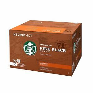 Starbucks Pike Place Roast Medium Keurig K-Cups 72 Count BEST BY May 2021