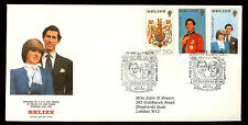 Belize 1981 Royal Wedding, Principessa Diana FDC #C 11366