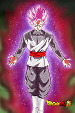 Dragon Ball Super Poster Goku Black Rose Glowing 12in x 18in Free Shipping