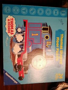 "Thomas the Train Engine Shaped Giant 24 Piece Floor Puzzle 27"" x 36"" Age 3+"