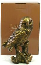 Owl Bronzed Ornament Figurine Sculpture Leonardo Reflections Collection