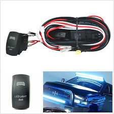 Car SUV 12V Blue LED Light Bar ON/OFF Switch Wiring Harness 40A Relay 30A Fuse